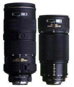 Größenvergleich comparison 80-200 Nikon Nikkor AF-S AFS
