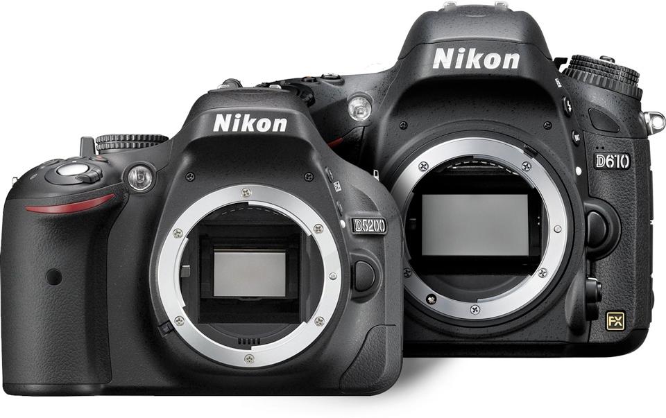 FX (groß) und DX (klein) Sensor in verschiedenen Kameras