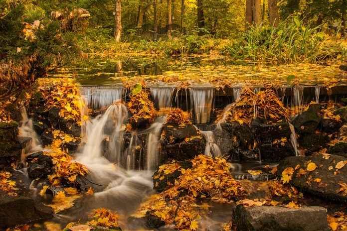 Wasser im Herbst