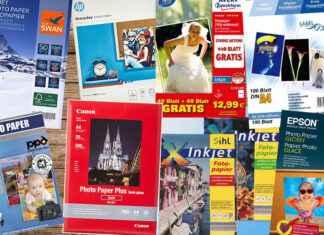 Fotopapier Auswahl