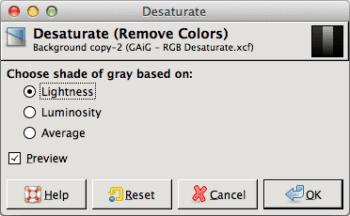 GIMP Schwarzweißkonvertierung