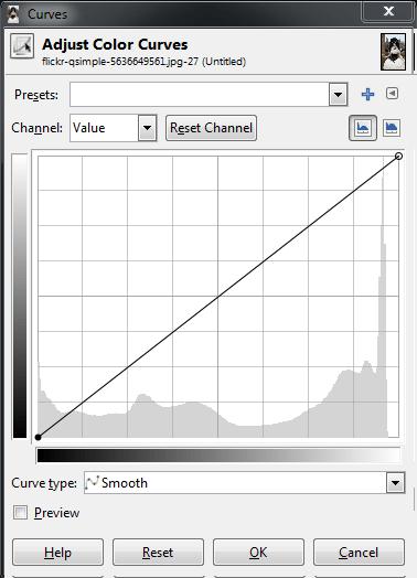 GIMP Tonwertkontrolle