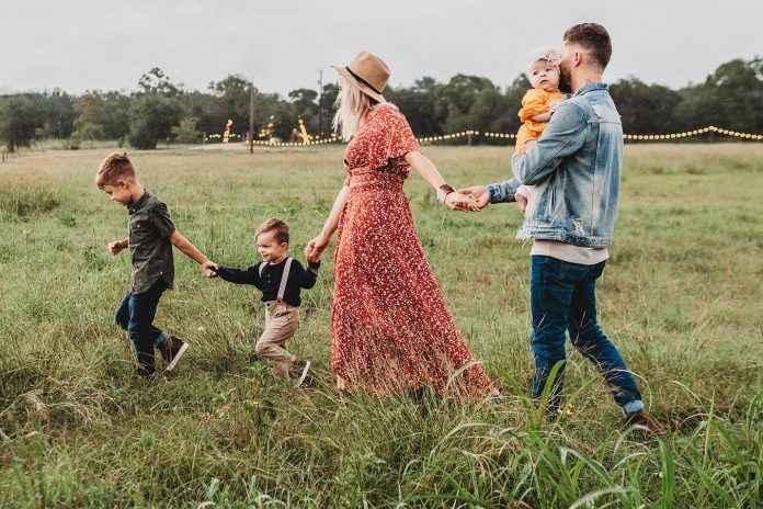 Familienfoto outdoor Location