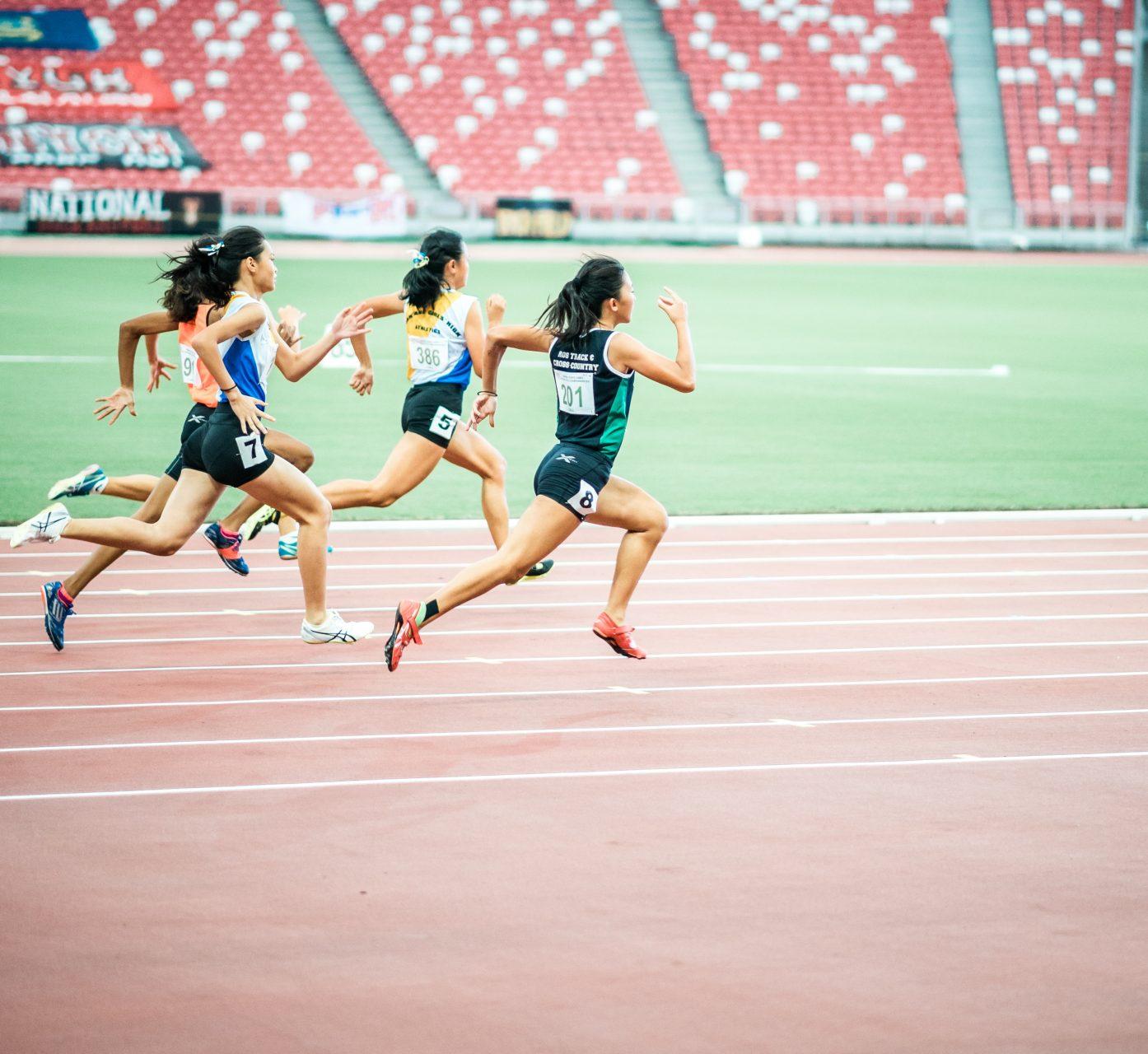 Läufer: vorher ohne Bildbearbeitung