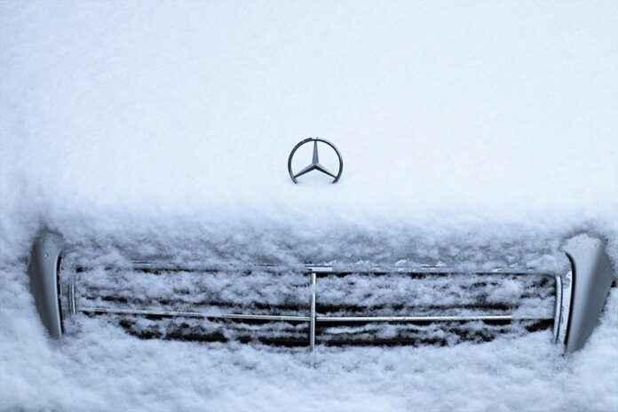 Bildbewertung Mercedes im Schnee