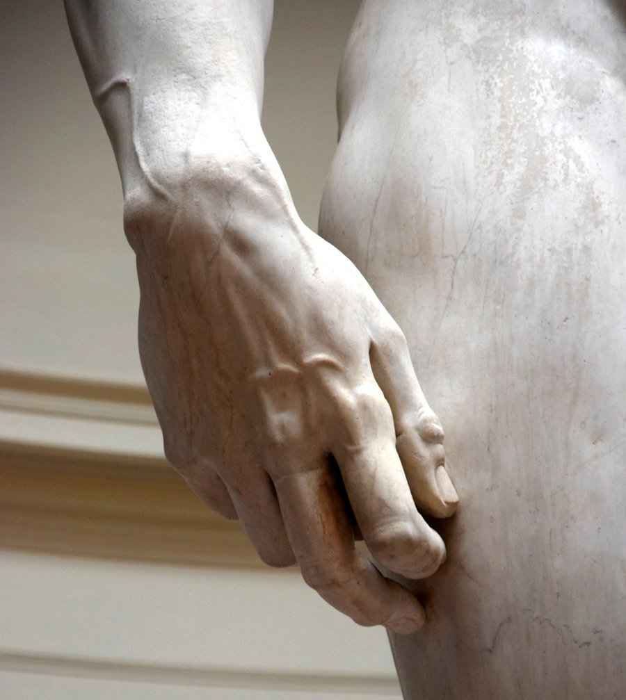 Detail Micehalangelo Skulptur Museum