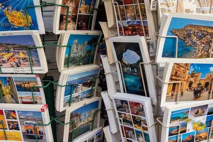 Postkarten auf Reisen Urlaub