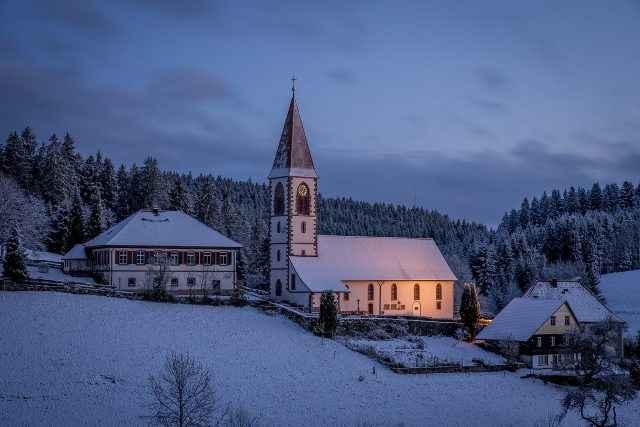 Landschaftsfotografie blaue Stunde